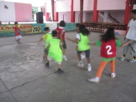 Students of Maharlika Playing Futsal